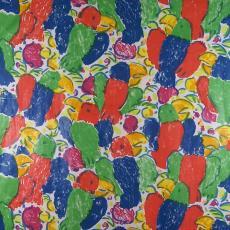 Gordijnstof 'Kaketoe' - Weverij De Ploeg (Bergeijk), Taunus Textildruck (Oberursel), Textielmuseum (registratiefoto), Textielmuseum (registratiefoto), Gerhard Belgraver