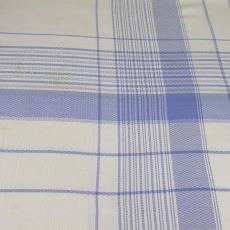 Tafellaken wit - blauw geruit - W.G.J. Ramaer & Co. (Helmond), Textielmuseum (registratiefoto)