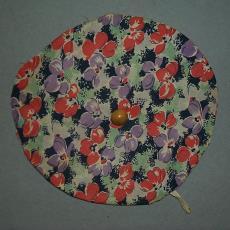 Ronde dekselbekleding - Textielmuseum (registratiefoto), onbekend