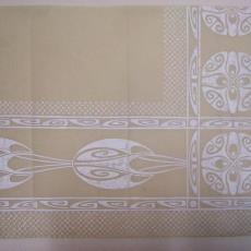 Ontwerptekening damast - Herm. Schroers (Krefeld), Textielmuseum (registratiefoto), Linnen- en damastweverij A. Louwers (Meerveldhoven)