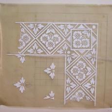 Ontwerptekening damast - Textielmuseum (registratiefoto), Linnen- en damastweverij A. Louwers (Meerveldhoven)