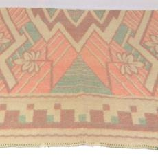 Deken met Art deco motief - onbekend, Textielmuseum (registratiefoto)