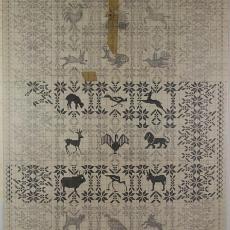 Ontwerptekening voor een 'wandkleed met dierfiguren' - Kitty van der Mijll Dekker (Fischer-)