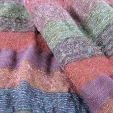 Proefstaal voor plaid (?) met streeppatroon - Textielmuseum (registratiefoto), Kitty van der Mijll Dekker (Fischer-), Handweverij en Ontwerpatelier K. v.d. Mijll Dekker (Nunspeet)