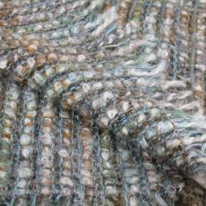 Grofgeweven stola in blauw-groentinten - Textielmuseum (registratiefoto), Textielmuseum (Joep Vogels), Textielmuseum (registratiefoto), Textielmuseum (registratiefoto), Kitty van der Mijll Dekker (Fischer-)