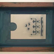Zeefdrukraam Atelier 't Seghel - Jan van den Bergh, Textielmuseum (registratiefoto)