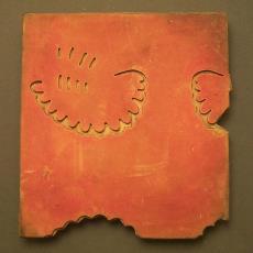 Drukblok Vlisco - Vlisco (Helmond), Textielmuseum (registratiefoto)
