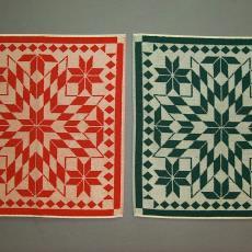 Keukenhanddoek 'Sterren' - Textielmuseum (registratiefoto), Mariëtte Wolbert, Elias Jorzolino (Neede)