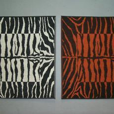 Keukenhanddoek 'Zebra' - Mariëtte Wolbert, Elias Jorzolino (Neede), Textielmuseum (registratiefoto)