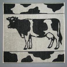 Keukenhanddoek 'Koe' - Elias Jorzolino (Neede), Mariëtte Wolbert, Textielmuseum (registratiefoto)