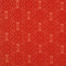 Kant, donkerrood, met bloemdessin, nr. 844165 - Textielmuseum (registratiefoto), Textielmuseum (Frans van Ameijde / Joep Vogels), Dentex (Nieuw-Vennep)