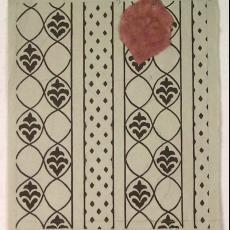 Trijpontwerp met traditioneel streepdessin - Eindhovensche Trijpfabrieken Schellens & Marto