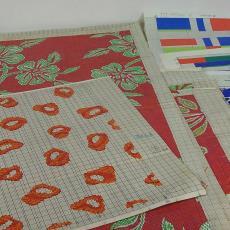 Patroontekening voor trijp met zeer uiteenlopende patronen - Eindhovensche Trijpfabrieken Schellens & Marto, Textielmuseum (registratiefoto), Textielmuseum (registratiefoto), Textielmuseum (registratiefoto)