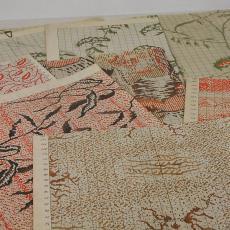 Patroontekening voor trijp met diverse organische dessins - Textielmuseum (registratiefoto), Textielmuseum (registratiefoto), Eindhovensche Trijpfabrieken Schellens & Marto