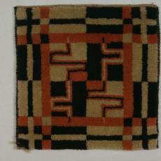 Handgeknoopt kleedje - Kinheim (Beverwijk), Textielmuseum (registratiefoto), Dirk Verstraten (toegeschreven)
