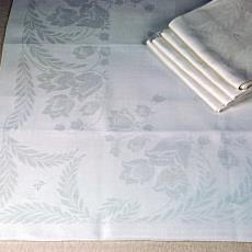 Damast servet 'Boschklokjes' (dessin 305) - Textielmuseum (registratiefoto), Albert Maurice Lejeune (toegeschreven), Linnenfabriek Wed. J. van Nuenen & Zoon (Zeelst / Meerveldhoven)