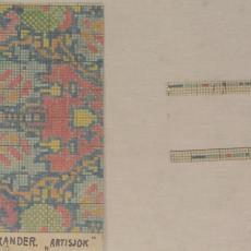 Patroontekening 'Artisjok' - Koninklijke Deventer Tapijtfabriek (Deventer), Th.A.C. Colenbrander