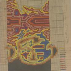 Patroontekening 'Vlammen 3' - Th.A.C. Colenbrander, Koninklijke Deventer Tapijtfabriek (Deventer)