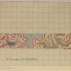 Patroontekening voor vloerkleed, randontwerp - Koninklijke Deventer Tapijtfabriek (Deventer), Th.A.C. Colenbrander