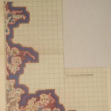 Patroontekening voor vloerkleed, hoekontwerp - Koninklijke Deventer Tapijtfabriek (Deventer), Th.A.C. Colenbrander