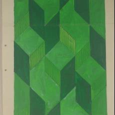Ontwerptekening voor vloerkleed '9283' - Textielmuseum (registratiefoto), Koninklijke Vereenigde Tapijtfabrieken (Deventer)