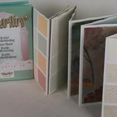 Stalenboek Murlin textiel wandbekleding, kollektie 59 - Textielmuseum (registratiefoto), Murlin Company (Oldenzaal), Zwartz (Oldenzaal)