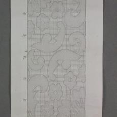 Patroontekening met bloem- en bladmotieven 'no III' (kopie) - A.A. Smit, W.G.J. Ramaer & Co. (Helmond)