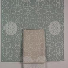 Servet met halve maantjesdessin 'All Over' - Nederlands Textielmuseum, Textielmuseum (registratiefoto), Textielmuseum (registratiefoto), Hester Philine Dekker
