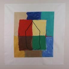 'Territorium', sjaal - Harrie Gerritz, Textielmuseum (registratiefoto), Texoprint (Boekelo), Textielmuseum (registratiefoto)