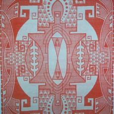 Deken met patroon in de stijl van de Art Deco - onbekend, Textielmuseum (registratiefoto)