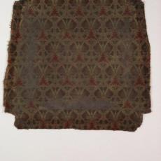 Bekleding van stoelzitting met vlinders - Theodoor Nieuwenhuis, Hengelosche Trijpweverij, Textielmuseum (registratiefoto)