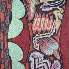 'Decoratiestof', broekpatroon - Textielmuseum (registratiefoto), Philip Boas, Batikatelier Java