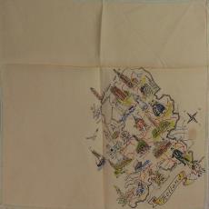 Zakdoek 'Holland' - Textielmuseum (registratiefoto), Fey-print