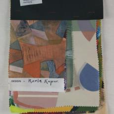 Gordijnstof met geometrische vormen, stalenbundel - Texoprint (Boekelo), Karla Kaper