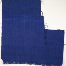 Blauwe gemêleerde weefstaal - Textielmuseum (registratiefoto), Het Paapje (Voorschoten)