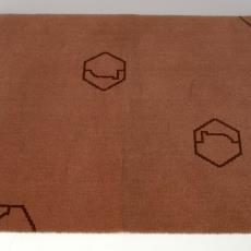Tapijtstaal met Bijenkorf logo 'P.53/P.1, 0.33' - Stoomweverijen Besouw (Goirle), Textielmuseum (registratiefoto)
