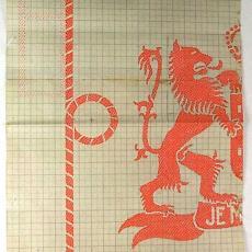 Patroontekening voor tafelgoed van de KNSM - Textielmuseum (registratiefoto), Textielmuseum (registratiefoto), Textielmuseum (registratiefoto), Textielmuseum (registratiefoto), W.J. van Hoogerwou & Zn. (Boxtel), Theodoor Nieuwenhuis, Textielmuseum (registratiefoto), Linnenfabrieken E.J.F. van Dissel & Zonen (Eindhoven), Textielmuseum (registratiefoto)