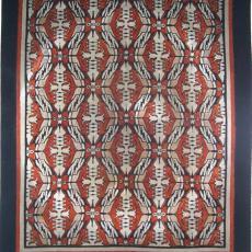 Tafelkleed, bedrukte trijp - Eindhovensche Trijpfabrieken Schellens & Marto, Sikko van der Woude, Textielmuseum (registratiefoto)