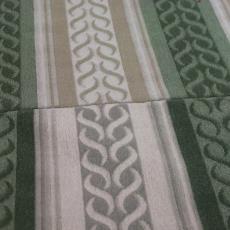 Leo Nova-stof met voorgeverfde poolkleurbanen - Schellens Furnishing Textiles, Textielmuseum (registratiefoto)