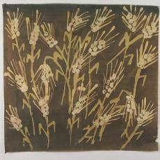 Staal met gestileerde bloemmotieven - Textielmuseum (registratiefoto), onbekend