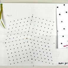 'Mira Posa', ontwerp en kleurstalen - Textielmuseum (registratiefoto), Taunus Textildruck (Oberursel), Beppe Kessler