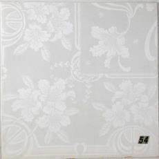 'Krullelie' en 'Appelbloesem', presentatiestalen van kwart servetten (telkens 2) in plastic hoes - Theodoor Nieuwenhuis, W.J. van Hoogerwou & Zn. (Boxtel), Textielmuseum (registratiefoto), Textielmuseum (registratiefoto)