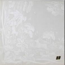 'Jacht' en 'Kers', presentatiestalen van kwart servetten (telkens 2) in plastic hoes - Textielmuseum (registratiefoto), Textielmuseum (registratiefoto), Theodoor Nieuwenhuis, W.J. van Hoogerwou & Zn. (Boxtel), Textielmuseum (Joep Vogels)