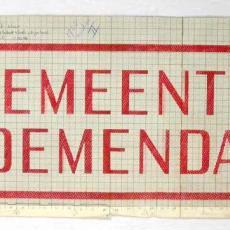 Patroontekening handdoek 'GEMEENTE BLOEMENDAAL' - W.J. van Hoogerwou & Zn. (Boxtel), Textielmuseum (registratiefoto)