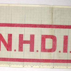 Patroontekening handdoek 'N.H.D.I.' - W.J. van Hoogerwou & Zn. (Boxtel), Textielmuseum (registratiefoto)