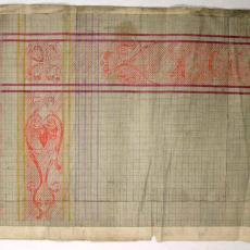 Patroontekeningen voor 'CLOSETDOEK' - Textielmuseum (registratiefoto), W.J. van Hoogerwou & Zn. (Boxtel), Textielmuseum (registratiefoto)