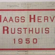 Patroontekening handdoek voor 'Haags Hervormd Rusthuis' - W.J. van Hoogerwou & Zn. (Boxtel), Textielmuseum (registratiefoto)