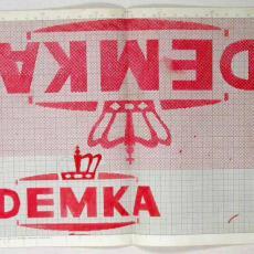 Patroontekening voor handdoek 'Demka' - Textielmuseum (registratiefoto), W.J. van Hoogerwou & Zn. (Boxtel)
