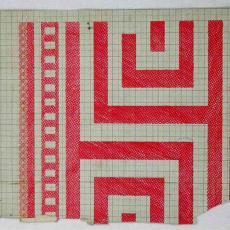 Patroontekeningen doek in gerstekorrel 'Griekse rand' - Textielmuseum (registratiefoto), G.H. Slot, W.J. van Hoogerwou & Zn. (Boxtel), Textielmuseum (registratiefoto), Textielmuseum (registratiefoto), Textielmuseum (registratiefoto)