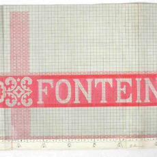 Patroontekening 'Fonteindoek' - Textielmuseum (registratiefoto), W.J. van Hoogerwou & Zn. (Boxtel)